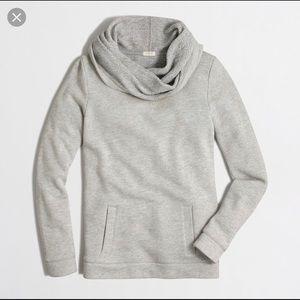 J. Crew Factory Grey Funnel Neck Sweatshirt